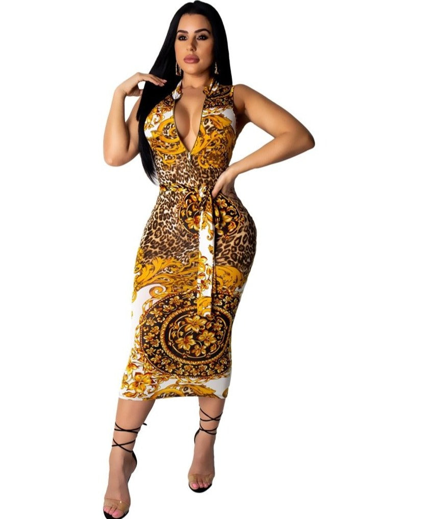 The Frenze - 2019 Paisley Vintage Pencil Bodycon Dress