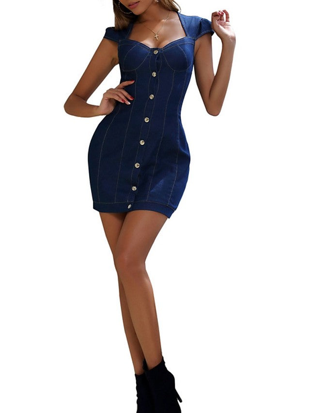 The Frenze - 2020 Sexy Denim Daily Mini Dress