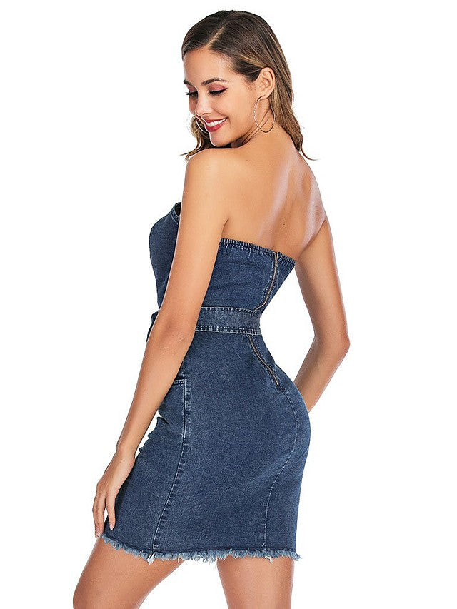 The Frenze-A Denim's Tale Mini Dress