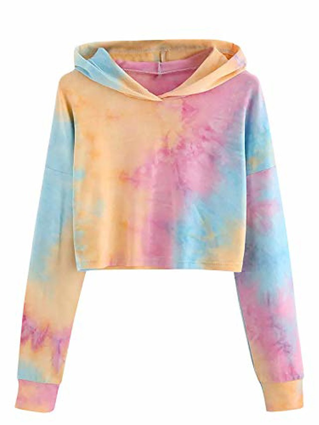 The Frenze - Burnt Ashes Tie Dye Crop Top Hoodie