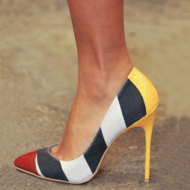 The Frenze- A Color Block Heel