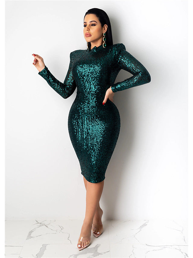 The Frenze- 2020 Sequinned Boss Cocktail Dress