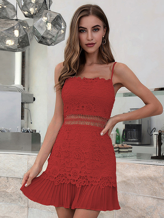The Frenze - 2020 Brick Red Party Mini Dress