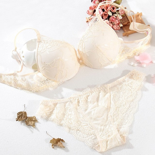 The Frenze - Embroidered Lace Bra & Panty Set