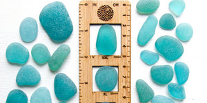 Aqua Blue Seaglass Collected in Japan