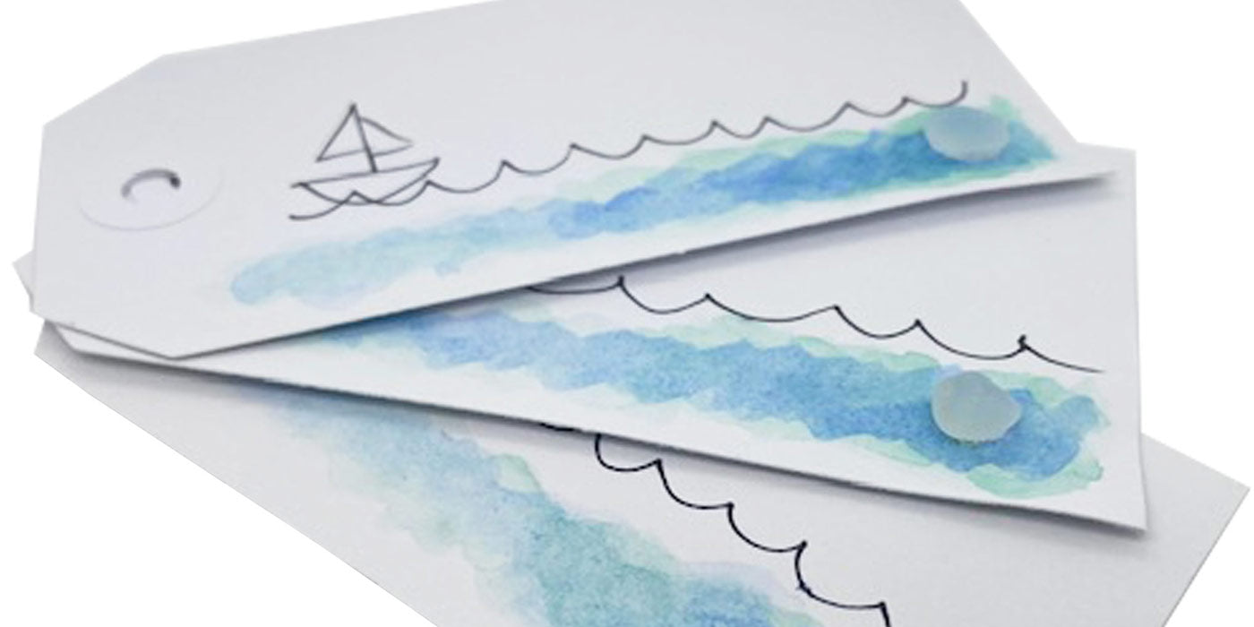 Sea Glass Gift Tags