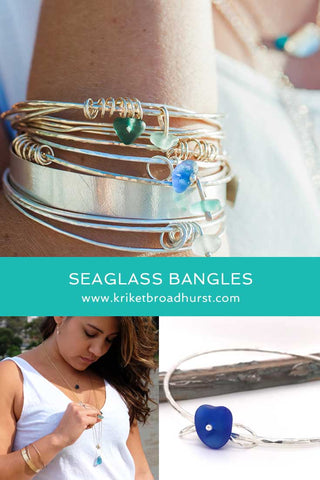 kriket broadhurst jewellery gifts for women stacking bangles with sea glass