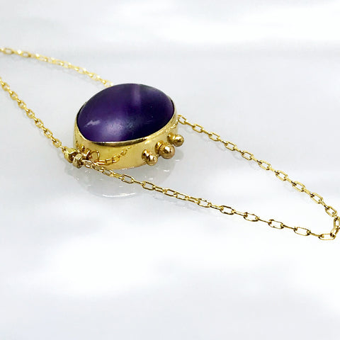 Heirloom Amethyst set into gold