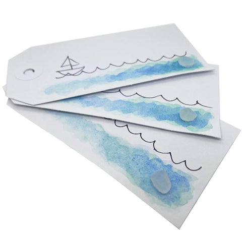 sea glass gift tags pack of 3 kriket broadhurst jewellery Australia