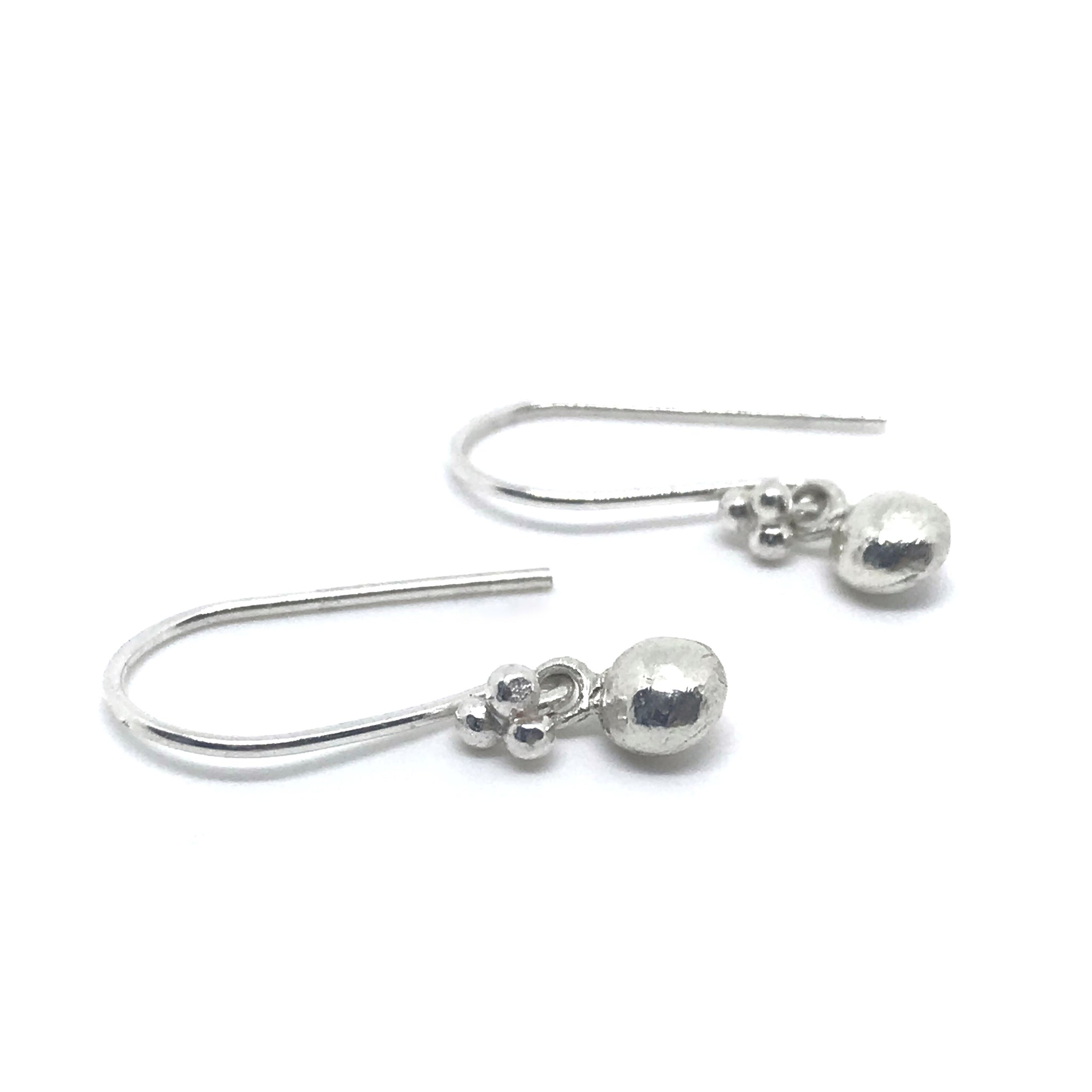 Silver Earrings Pebble Drops - kriket broadhurst jewellery