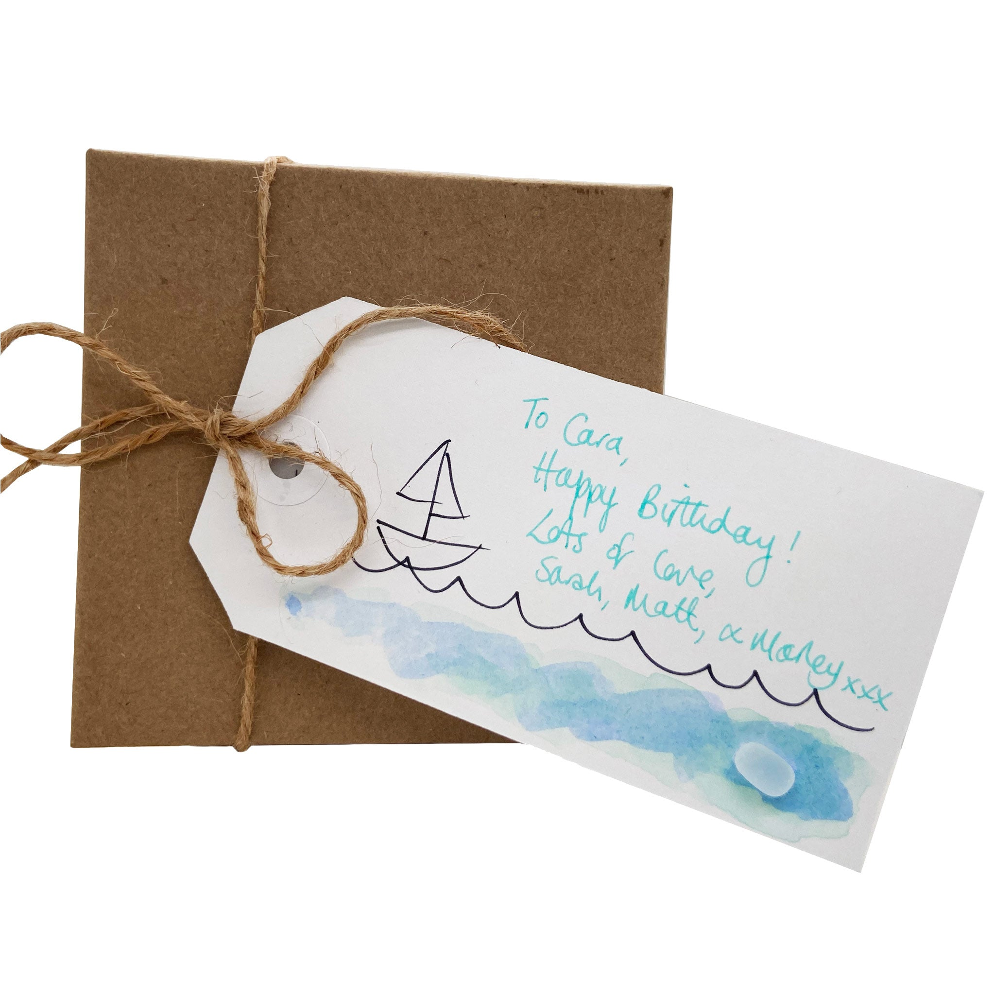 sea glass gift tag present for loved one kriket broadhurst jewellery Australia