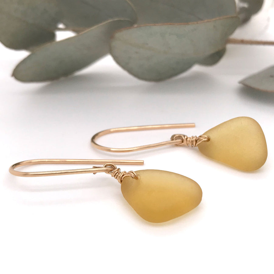 honey earrings seaglass drops kriket broadhurst seaglass earrings