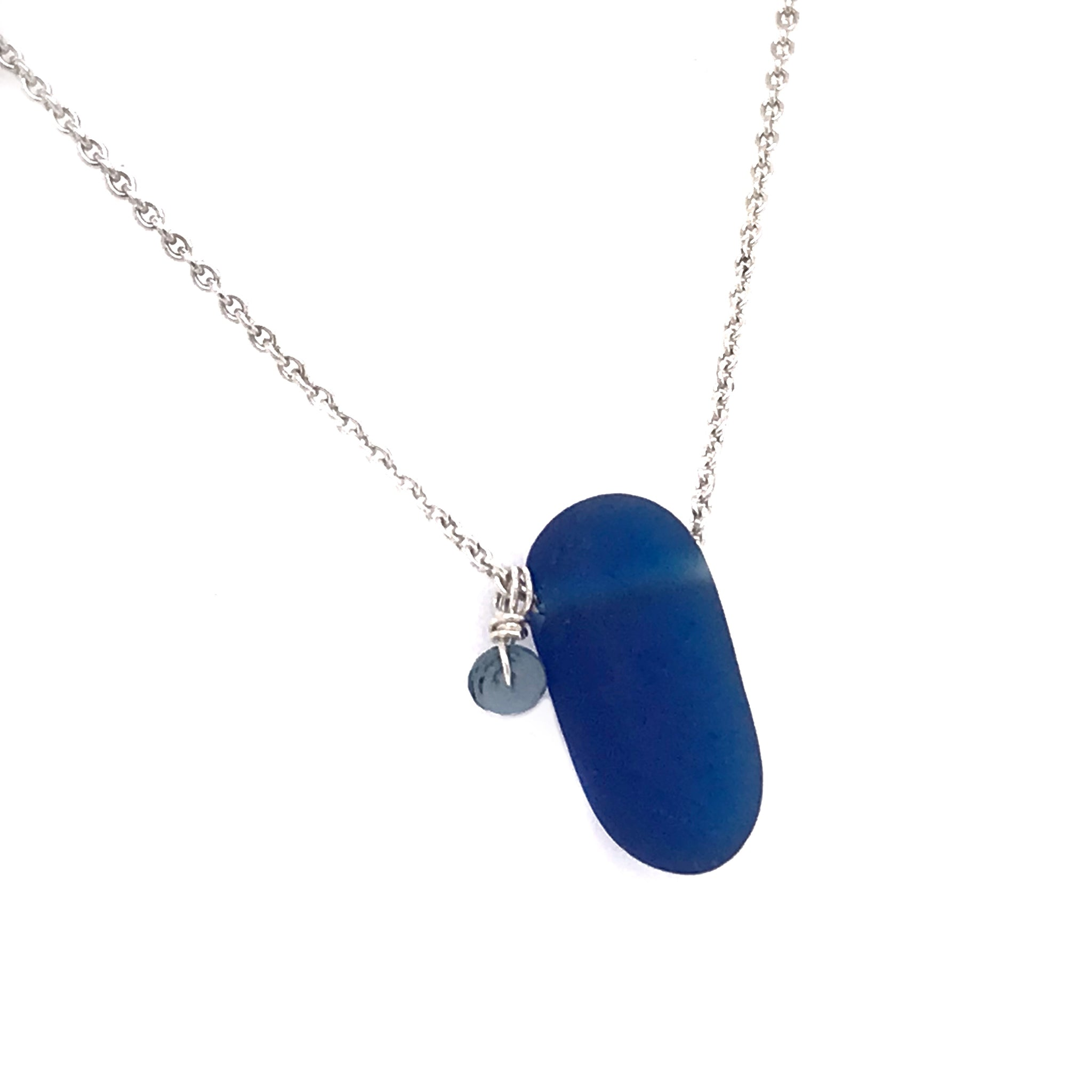 cobalt blue sea glass necklace kriket broadhurst jewellery Sydney store