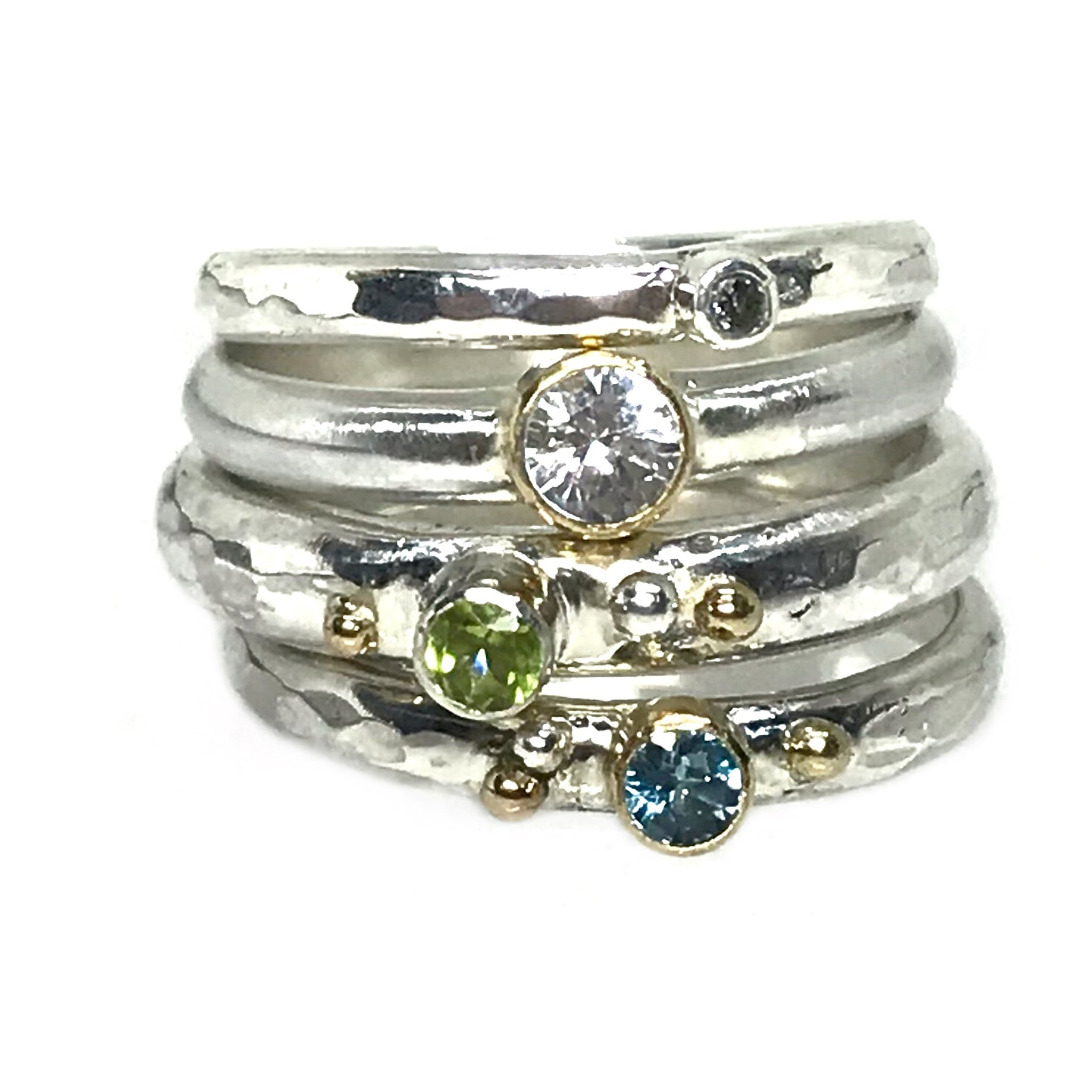 gemstone stacking rings kriket broadhurst jewellery