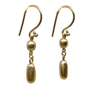 Gold Chandelier Drop Earrings - jewellery - 14ct gold 14k gold beach jewelry chandelier earrings co-worker gift