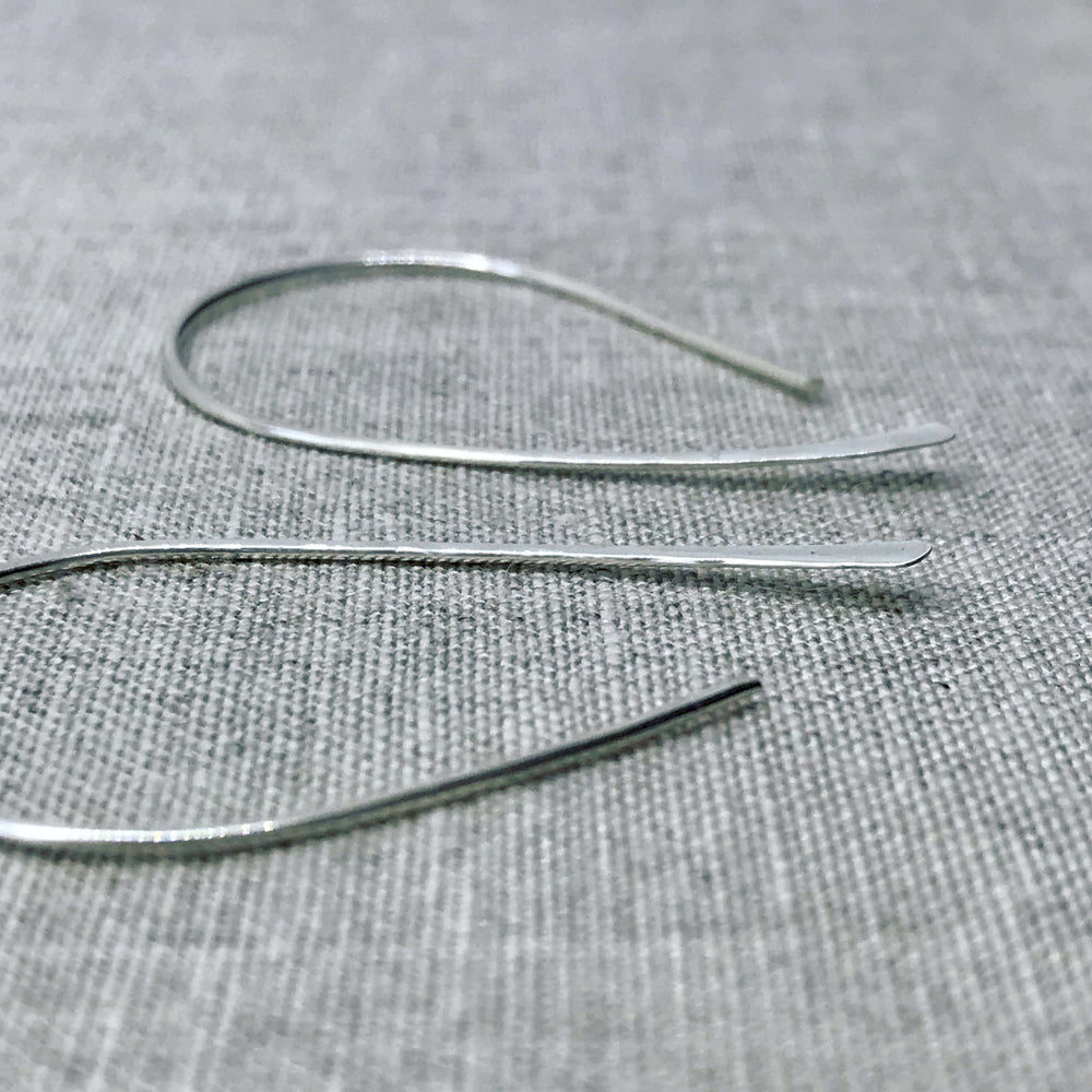 Silver Earrings Hammered Hoops  - kriket-broadhurst handcrafted jewellery