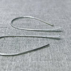 Silver Hoop Earrings - jewellery - beach jewelry co-worker gift dainty earrings Hammered earrings hoop-earrings