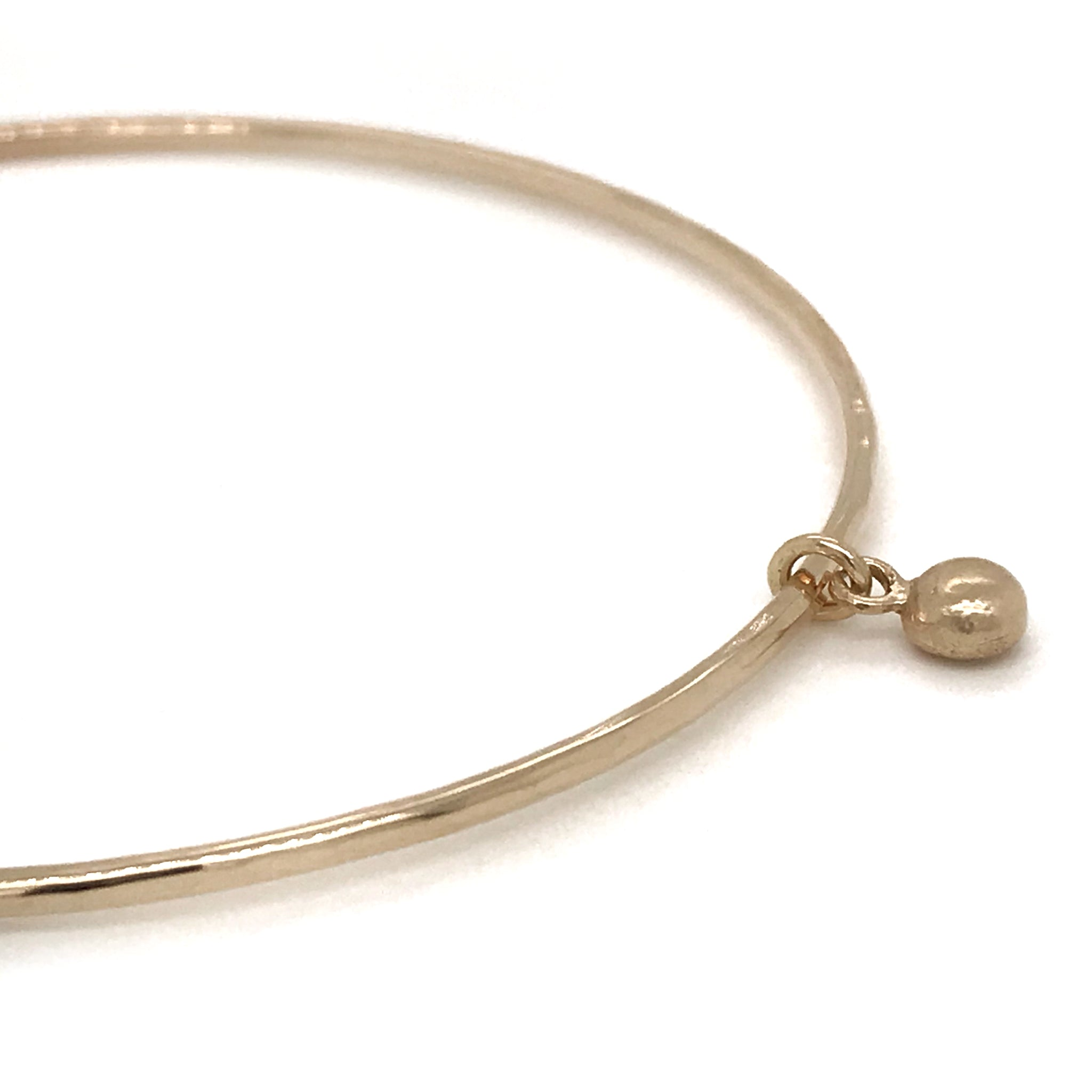 gold pebble charm bangle kriket broadhurst jewellery Sydney store