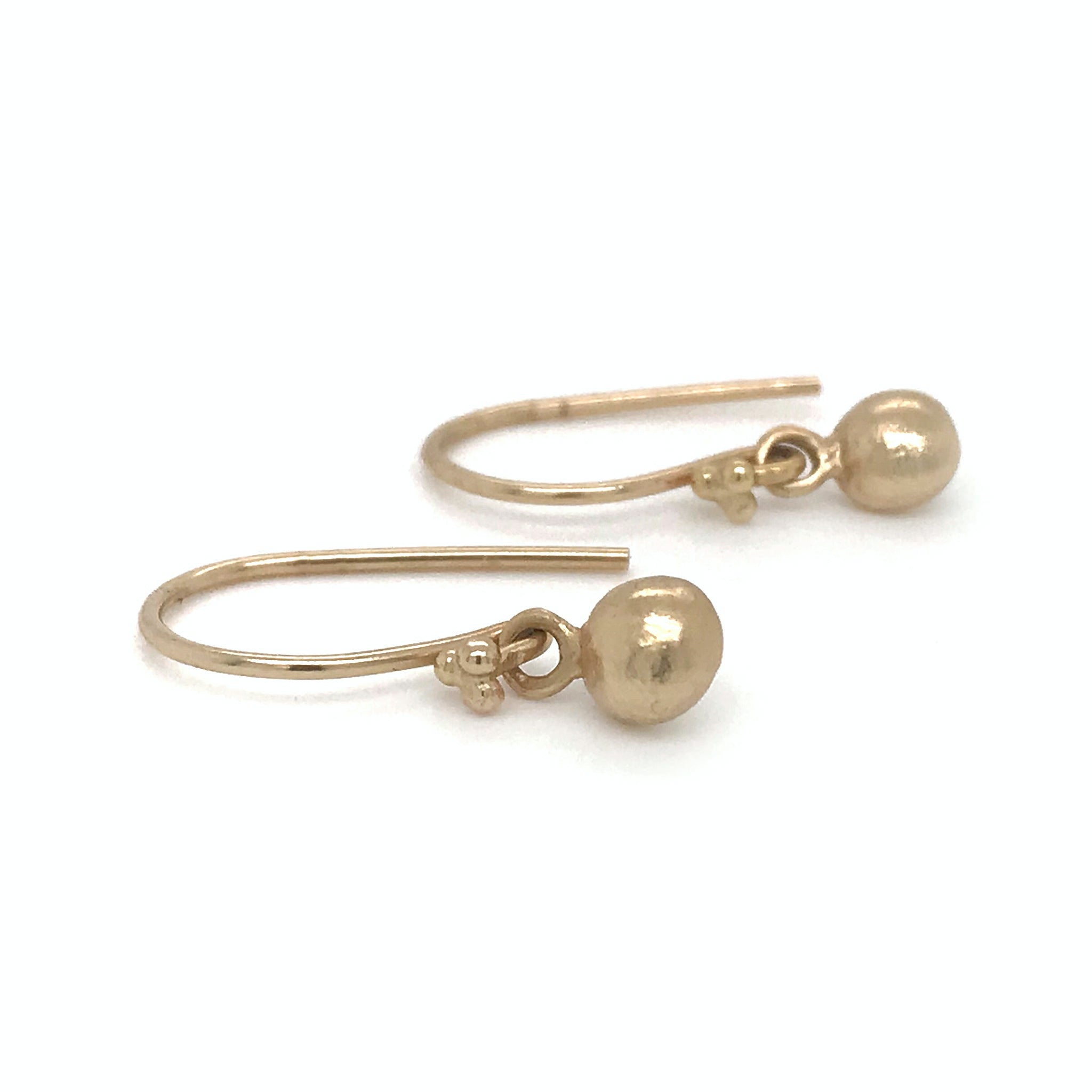14k gold pebble charm earrings kriket broadhurst jewellery