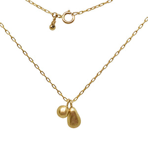 Gold Teardrop Pebble Charm Necklace - jewellery - 14ct gold 14k gold beach jewelry best friend gift Charm necklace