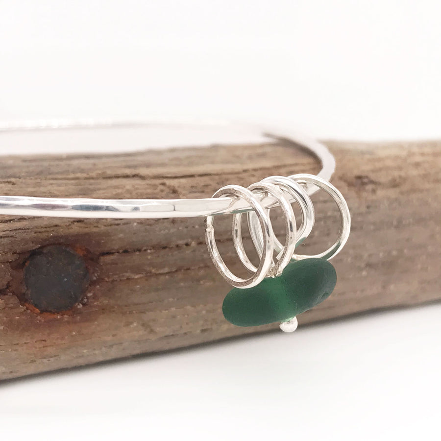 green seaglass bangle silver Kriket broadhurst jewellery