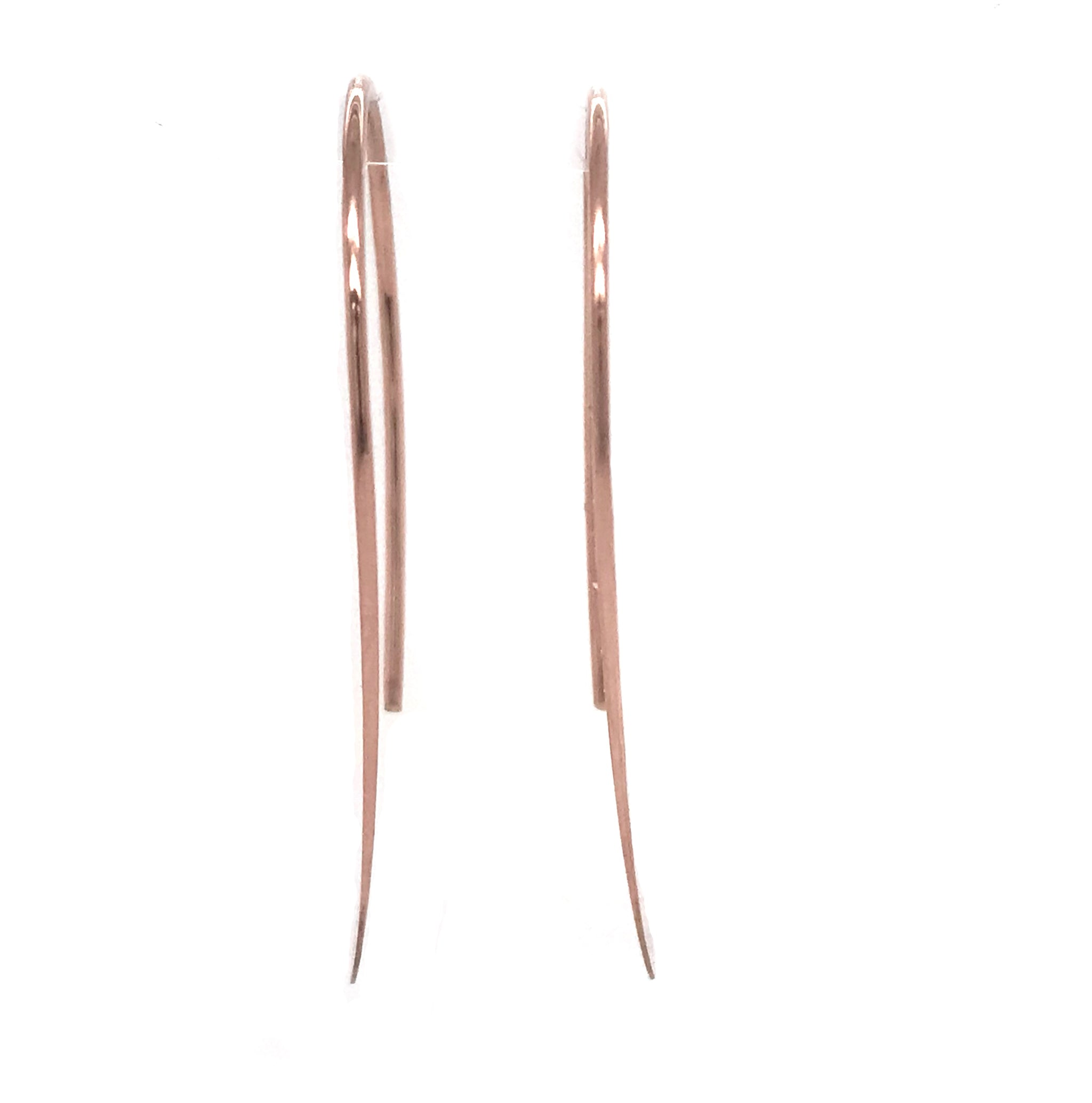 Rose Gold Earrings – Hammered Hoops