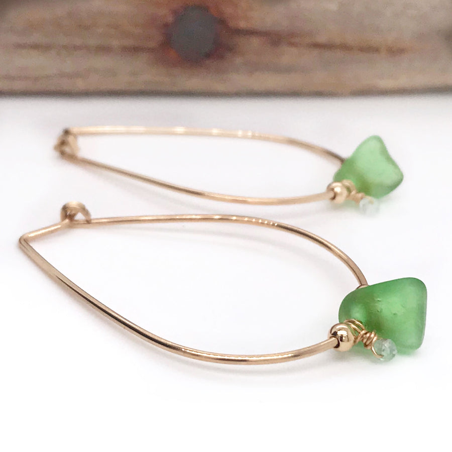 green and gold hoops kriket broadhurst jewellery