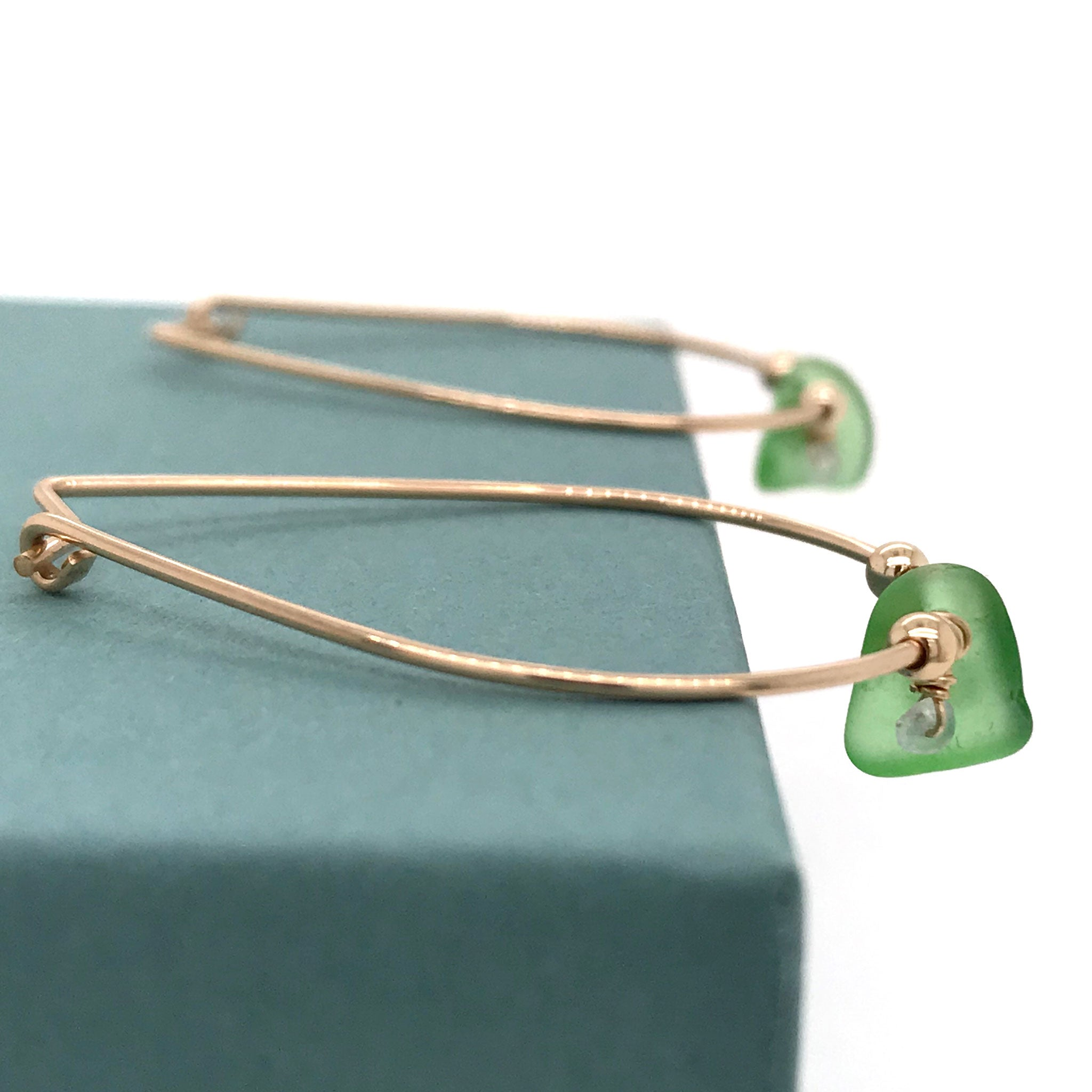 green and gold hoop earrings kriket broadhurst jewellery