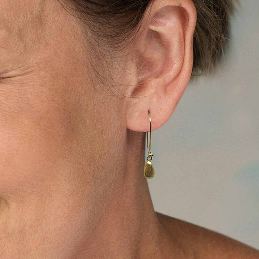 Gold Earrings with 14k gold Charms  - kriket broadhurst minimalist jewellery Australian made