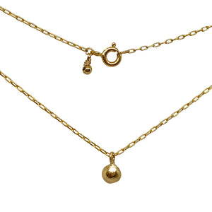 Gold Pebble Ball Necklace