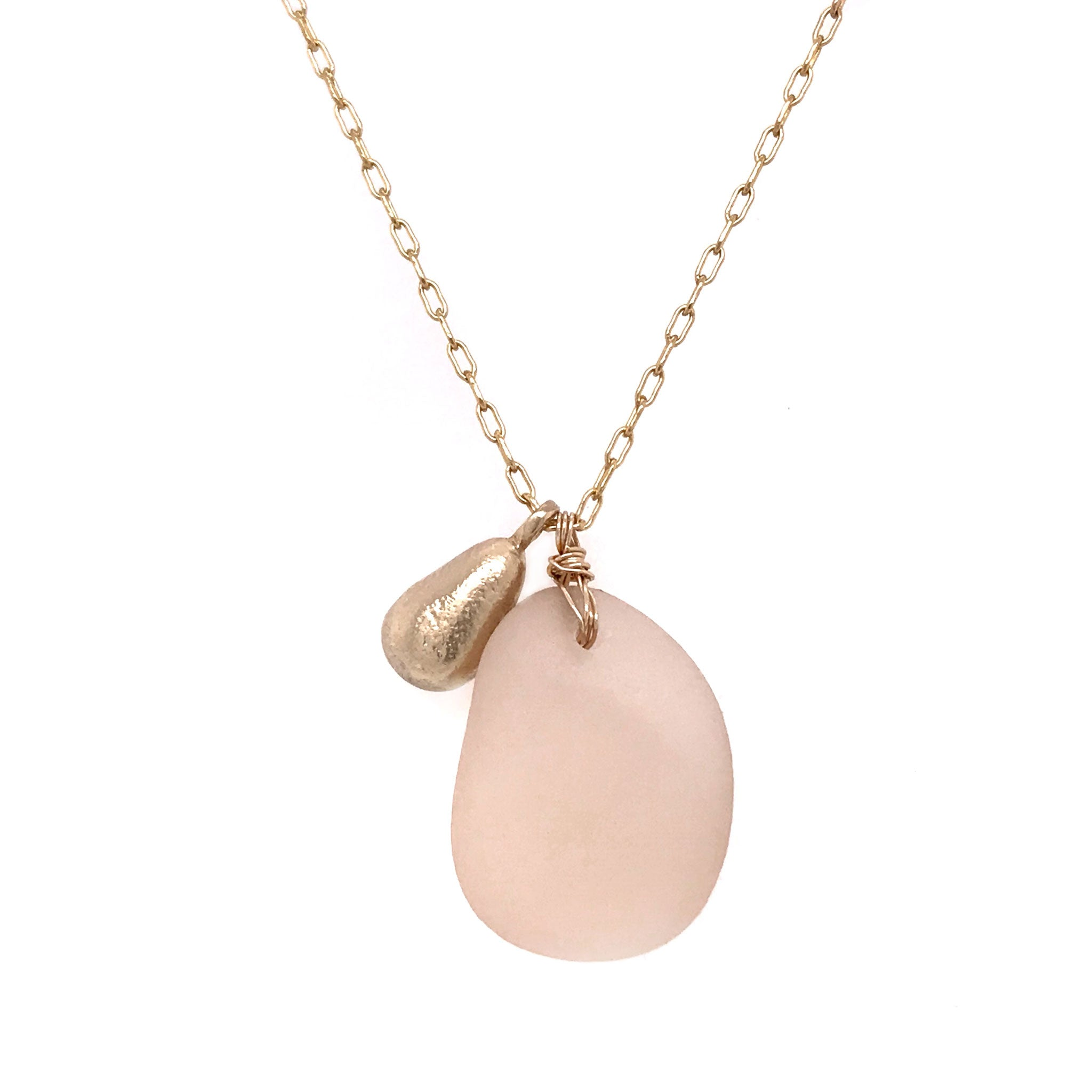champagne pink necklace kriket broadhurst seaglass necklace