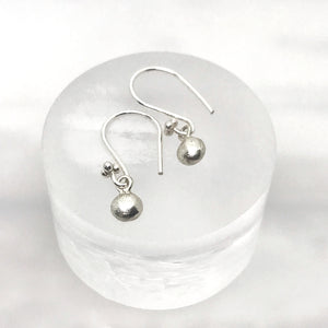 Silver Pebble Drop earrings - jewellery - anniversary anniversary gift ball earrings beach jewelry best friend gift