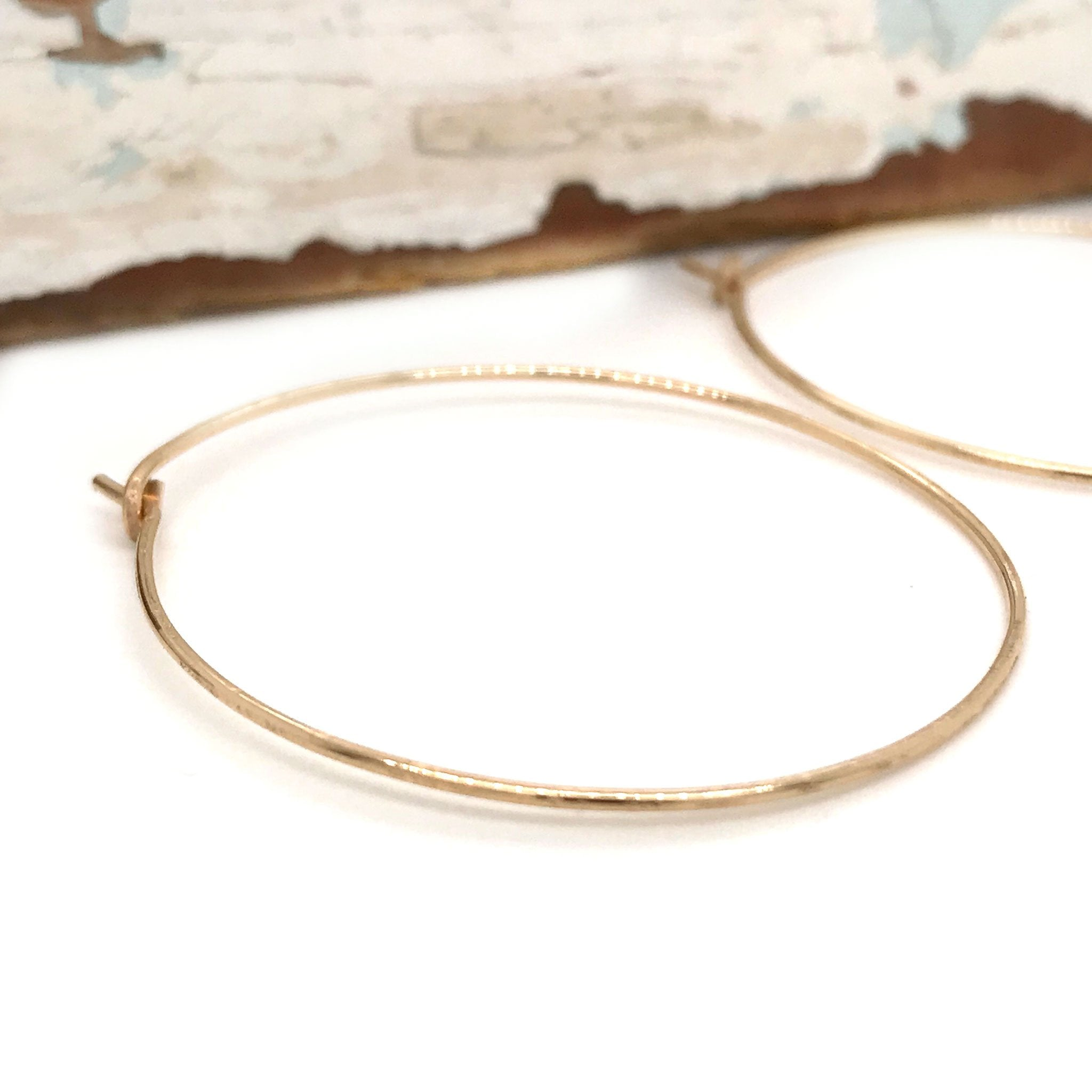 gold round hoop earrings matt textured Kriket Broadhurst jewellery