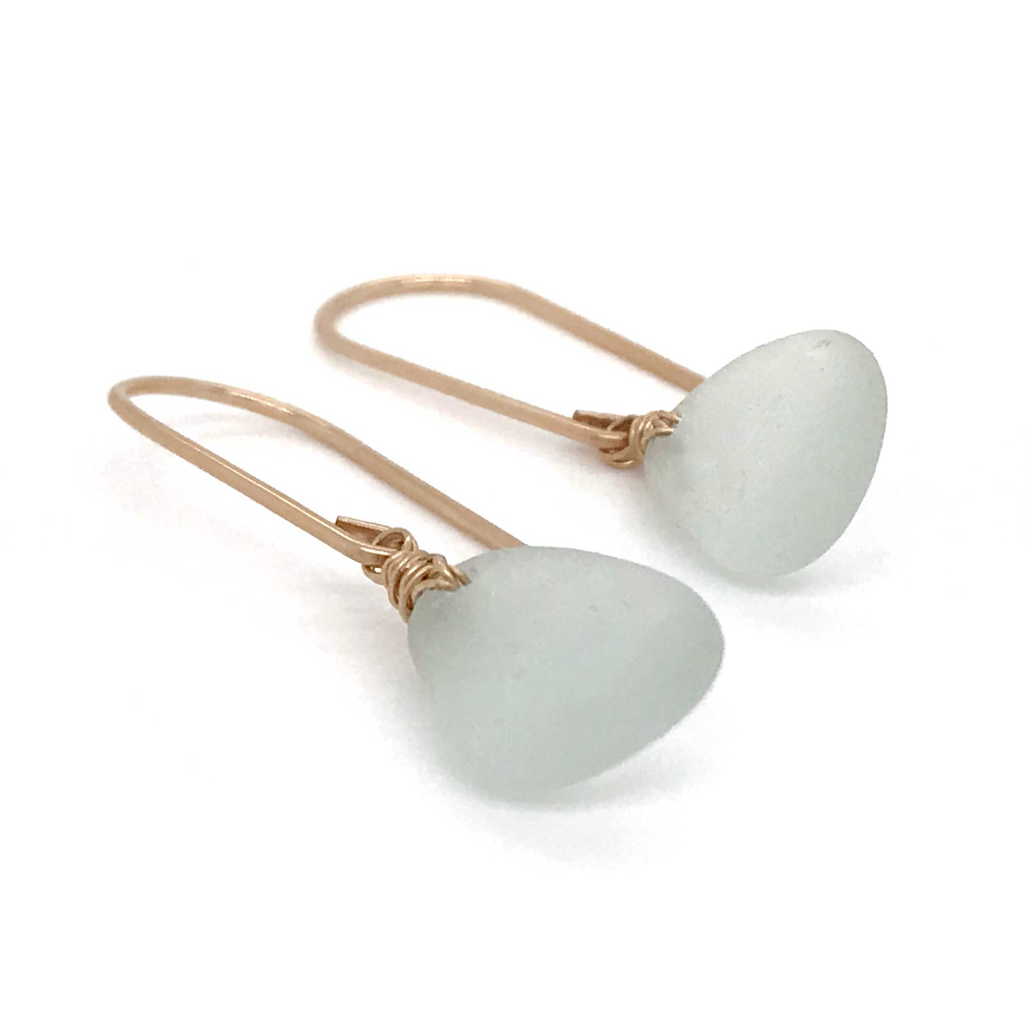 seafoam sea glass earrings gold kriket broadhurst jewelry Sydney