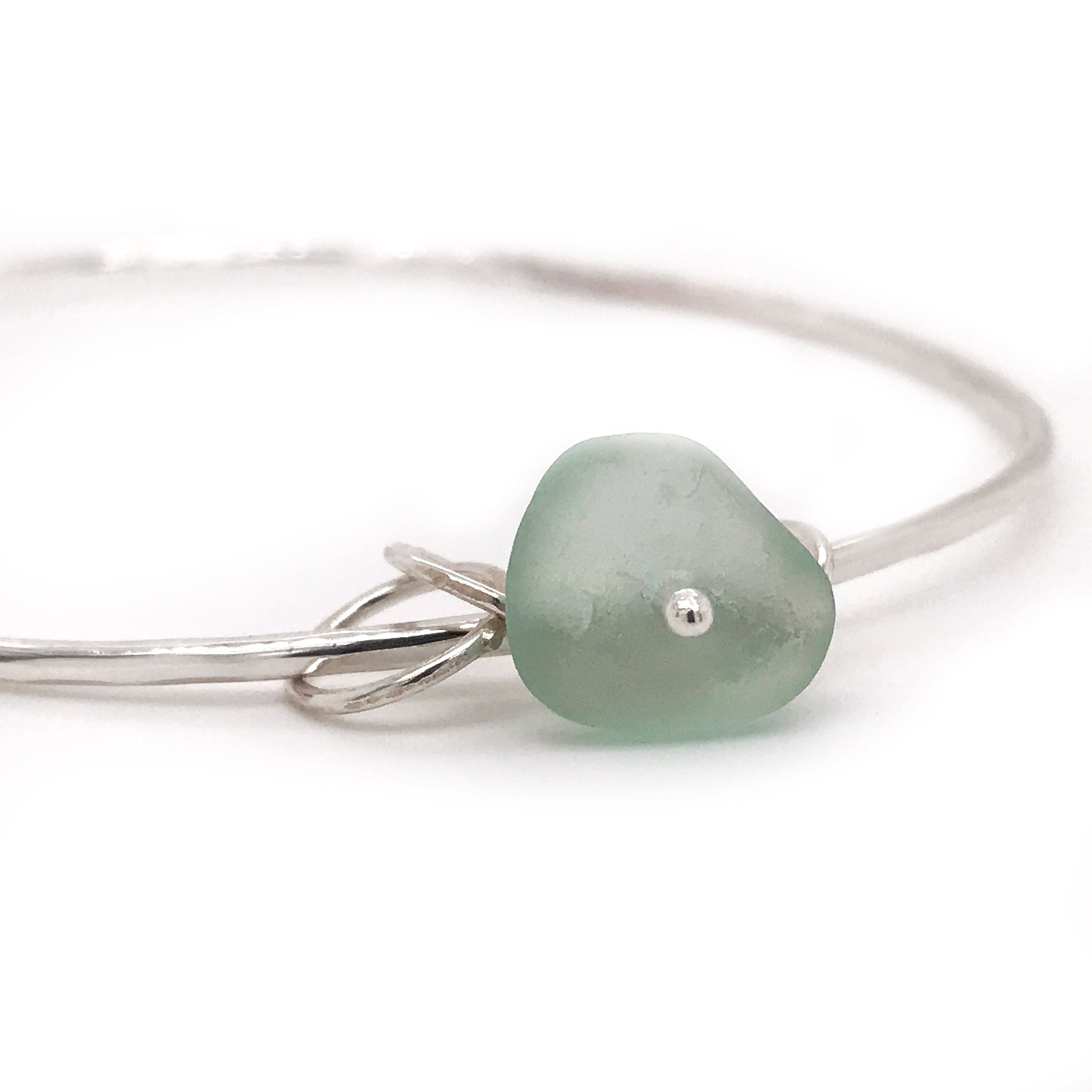 seafoam green seaglass bangle silver kriket broadhurst jewellery