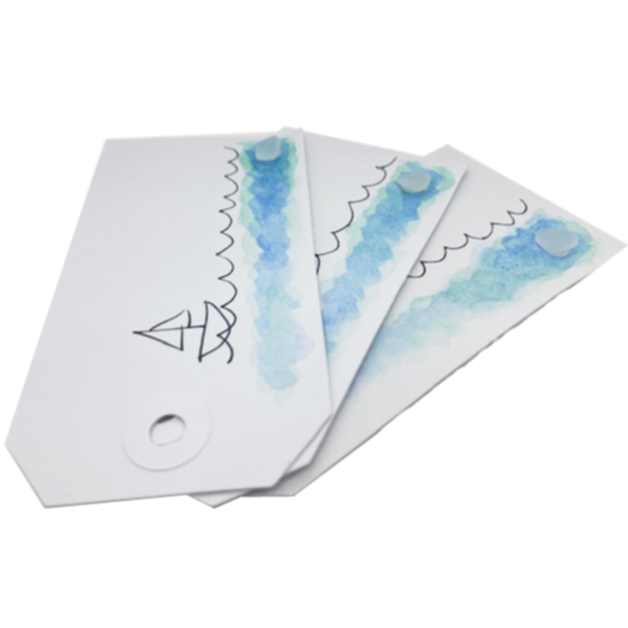 sea glass gift tags for presents kriket broadhurst jewelry Sydney