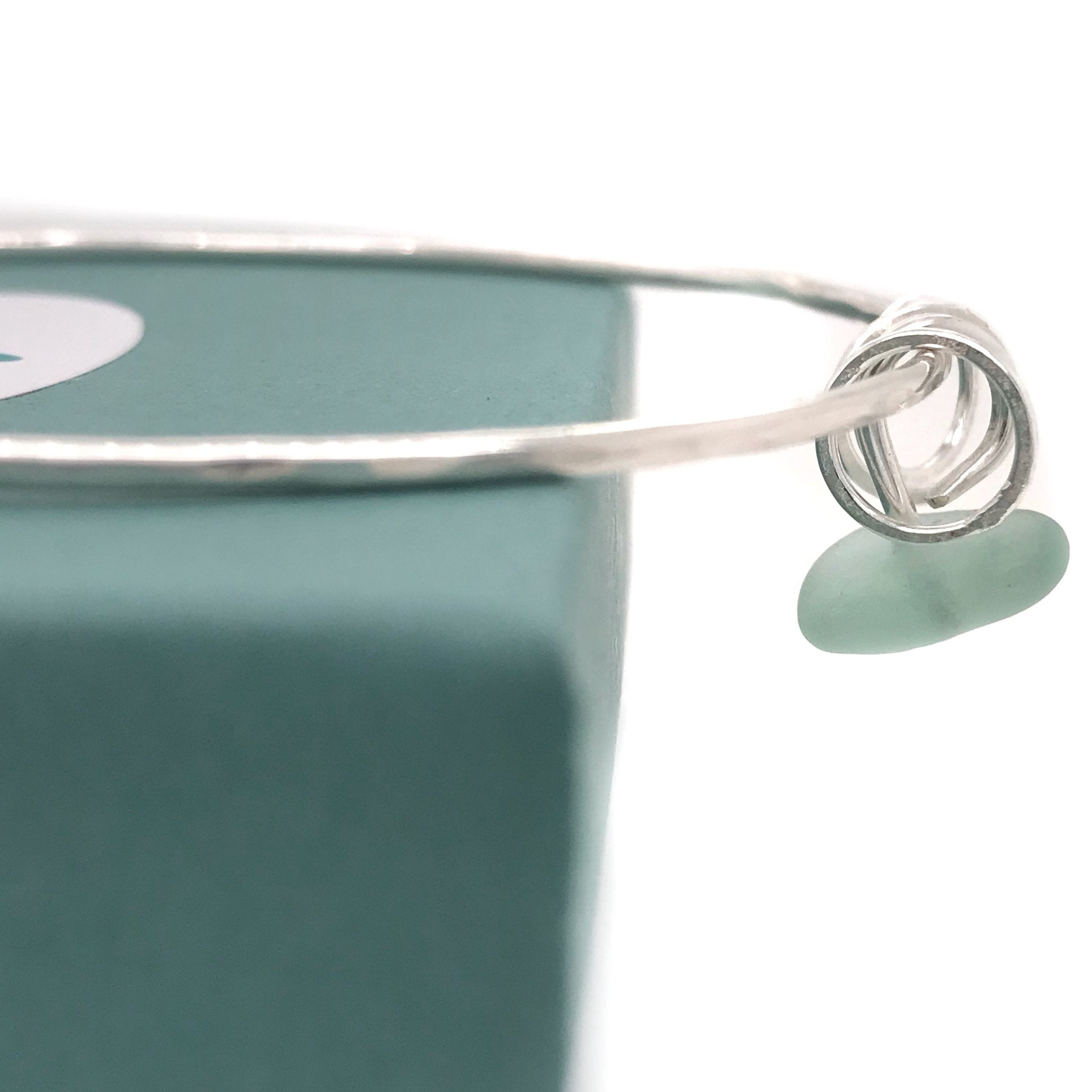 sterling silver bangle with seafoam seaglass bangleKriket Broadhurst jewelry