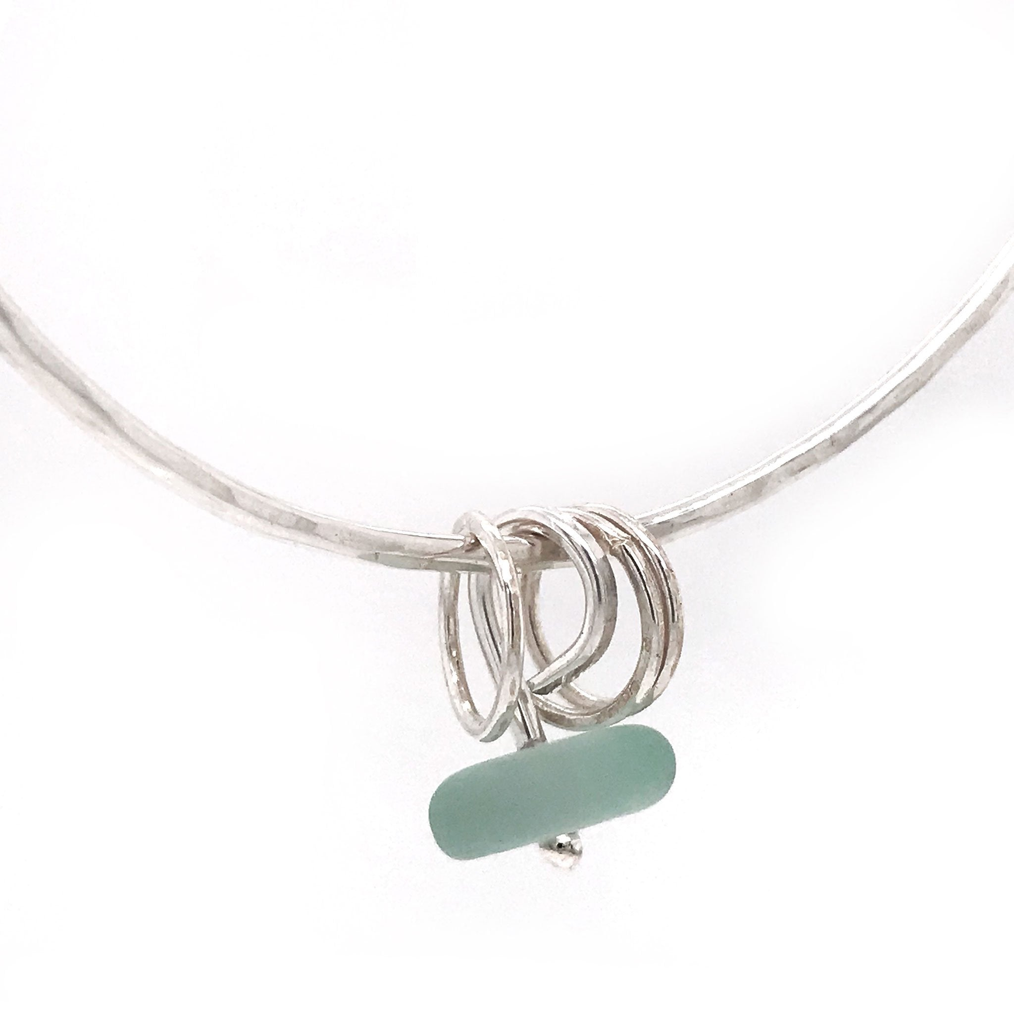 seafoam seaglass bangle silver kriket broadhurst jewellery Australian made