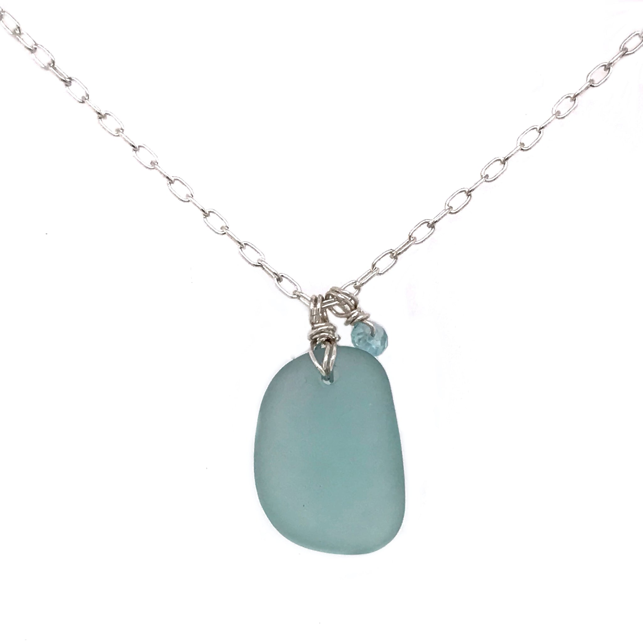 aqua seaglass jewellery