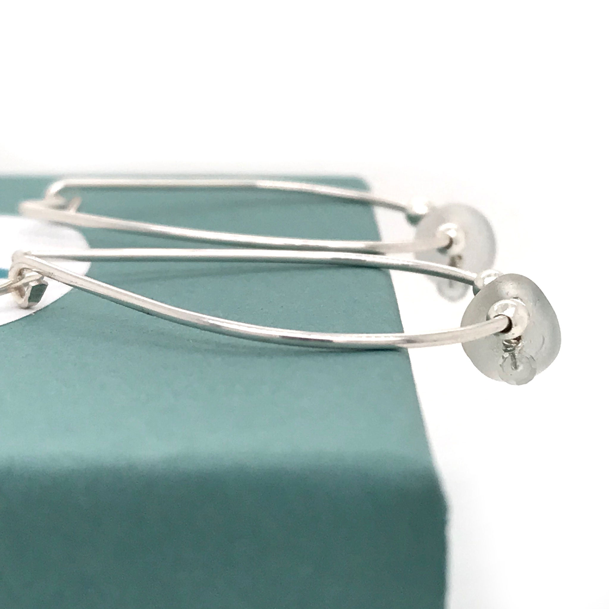 silver seaglass hoops aquamarine earrings Kriket Broadhurst jewellery