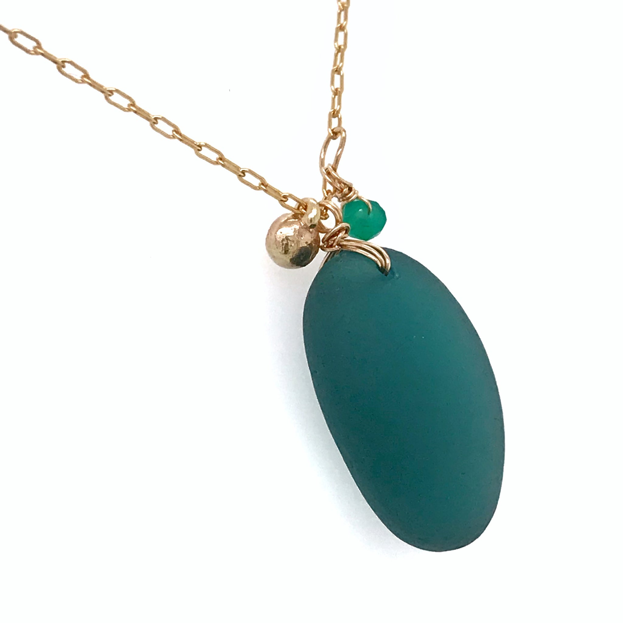 layering necklace seaglass chain kriket broadhurst jewelleryt