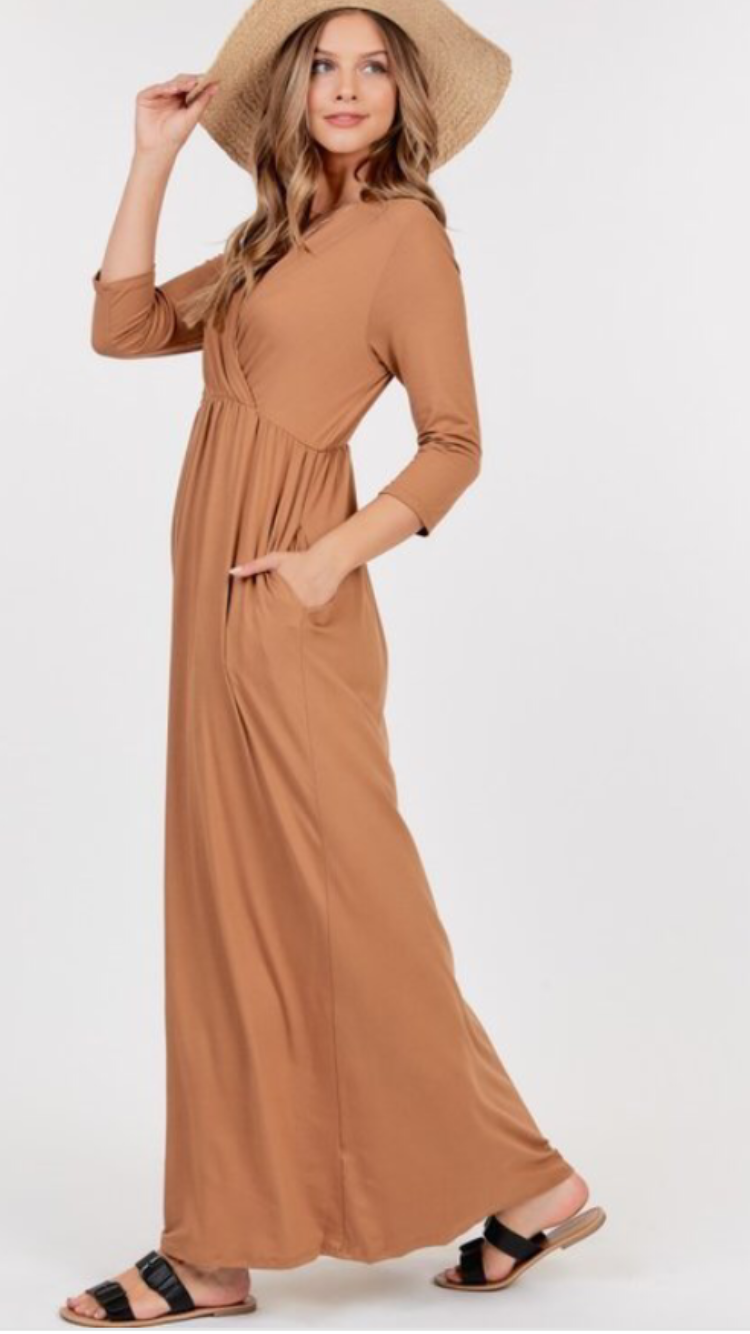 Coco Empire Waist Maxi Dress