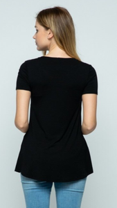 Asymmetrical Nursing Top (2 colors)