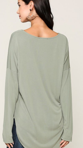 Long Sleeve Scoop Neck (2 colors)