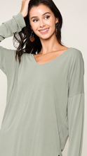 Load image into Gallery viewer, Long Sleeve Scoop Neck (2 colors)