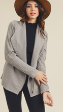 Load image into Gallery viewer, Ribbed Shawl Collar Jacket