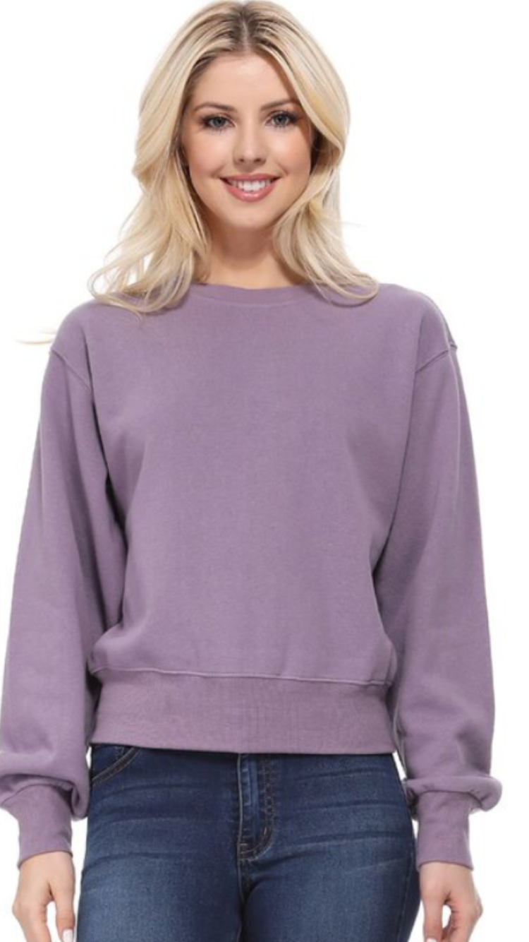 Cozy Brushed Fleece Sweatshirt (2 colors)