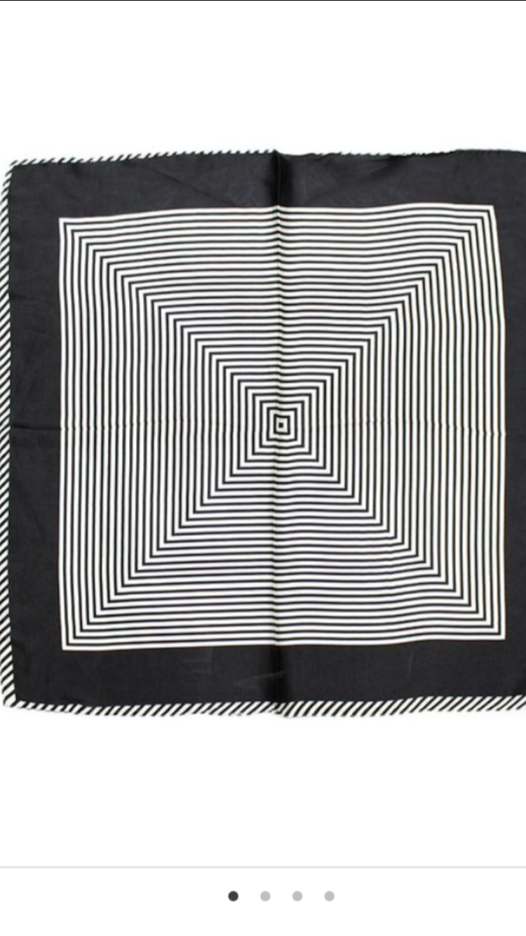 Black and White Geo Scarf