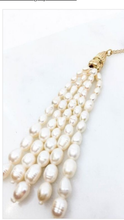 Load image into Gallery viewer, Pearl Tassel Necklace