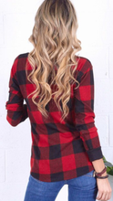 Load image into Gallery viewer, Buffalo Plaid Front Tie Top